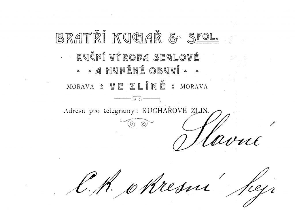 Letterhead of Kucharovi company