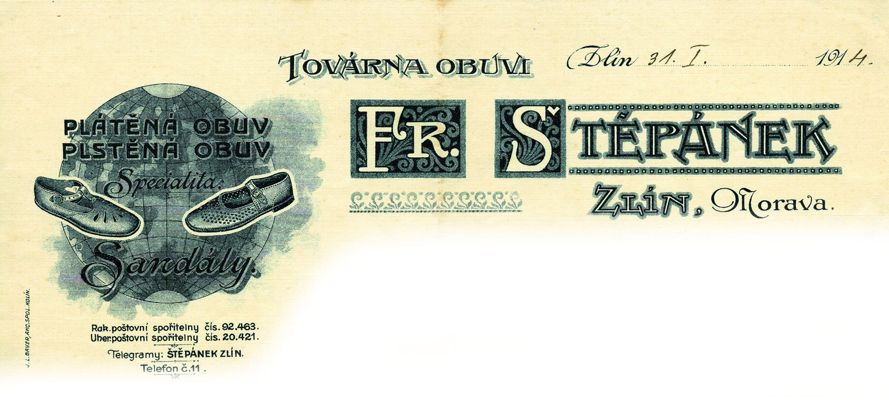Letterhead of Stepanek company