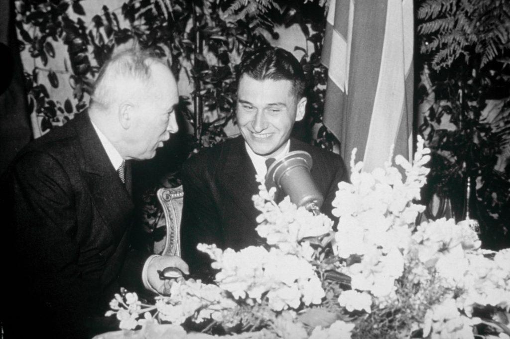 Tomáš Baťa junior s Edvardem Benešem