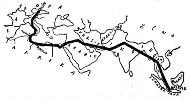 První mezikontinentální let