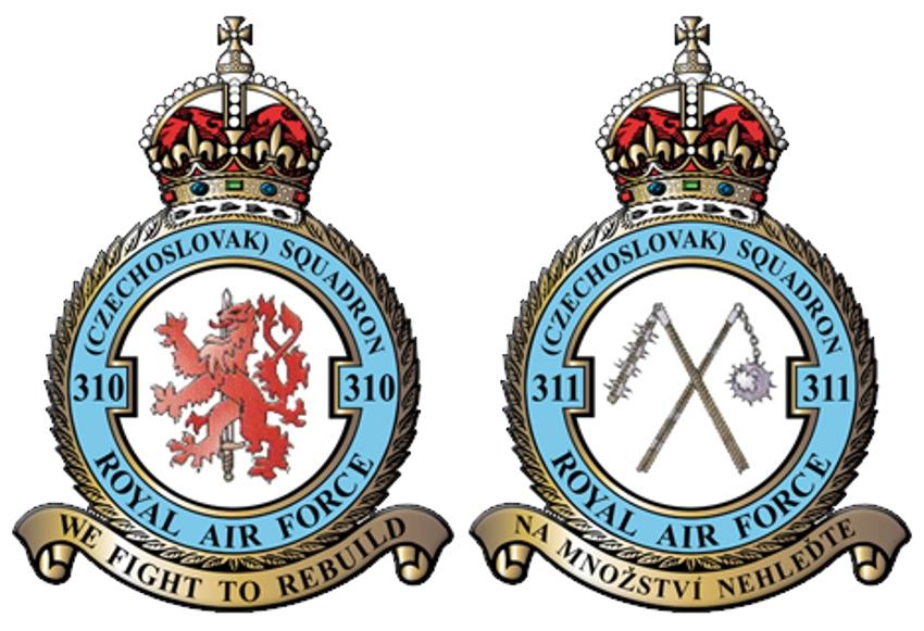 310. československá stíhací peruť RAF + 311. československá bombardovací peruť RAF