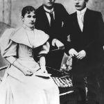 Sourozenci Anna, Tomáš a Antonín Baťovi, kolem r. 1900