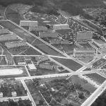 Letecký pohled na nové centrum Zlína, 1935
