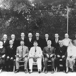 Starosta města Zlína T. Baťa se skupinou členů městského zastupitelstva, 1923